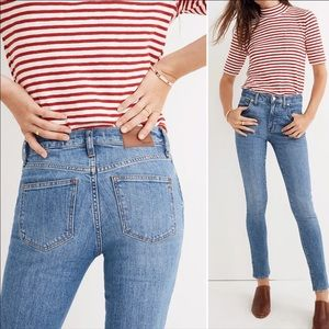 Madewell Mid-Rise Skinny Jeans 35 Tall NWT